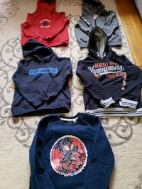 Sweaters 6-7 years.Convers and Puma.10$ each,US Polo and Spiderman 15$ Toronto, M6A 1C3