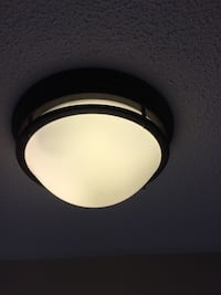 Brown Trim Dome Light Fixture