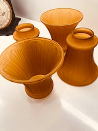 two brown ceramic candle holders San Jose, 95125