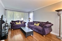 Very comfy purple couches  Laval, H7W 3G9