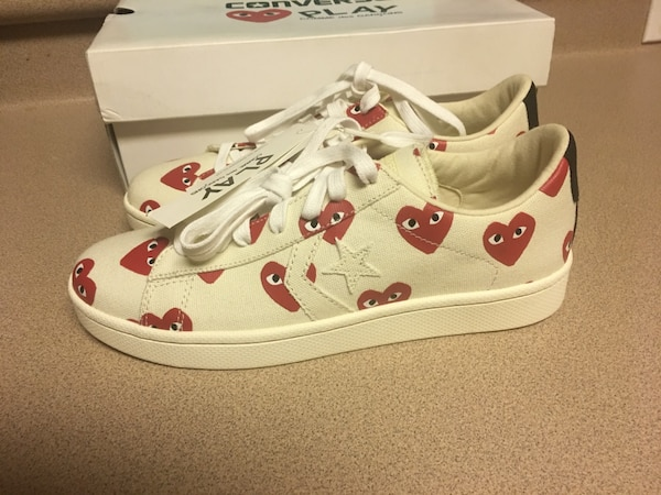 98c147a5ebce Used Converse X Play Comme des Garcons Pro Leather CDG Milk 140712C ...