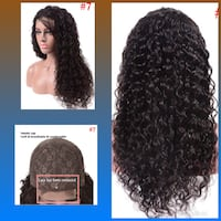 "New 22"" 100% Human Hair Lace Front Wig s7 Lanham"