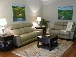 American Signature Leather sofa and loveseat