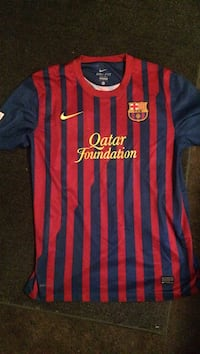 red and blue Nike Qatar Foundation jersey shirt Baldwin Park, 91706