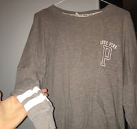 Love Pink Grey longsleeve size small Coquitlam, V3J 5J7