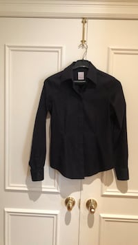 Brooks Brothers NEW black fitted Shirt Woman Size 2