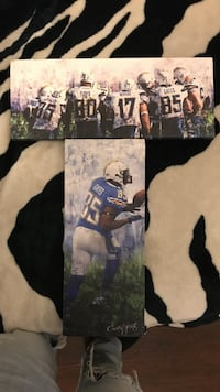 Chargers canvas wall art San Diego, 92173