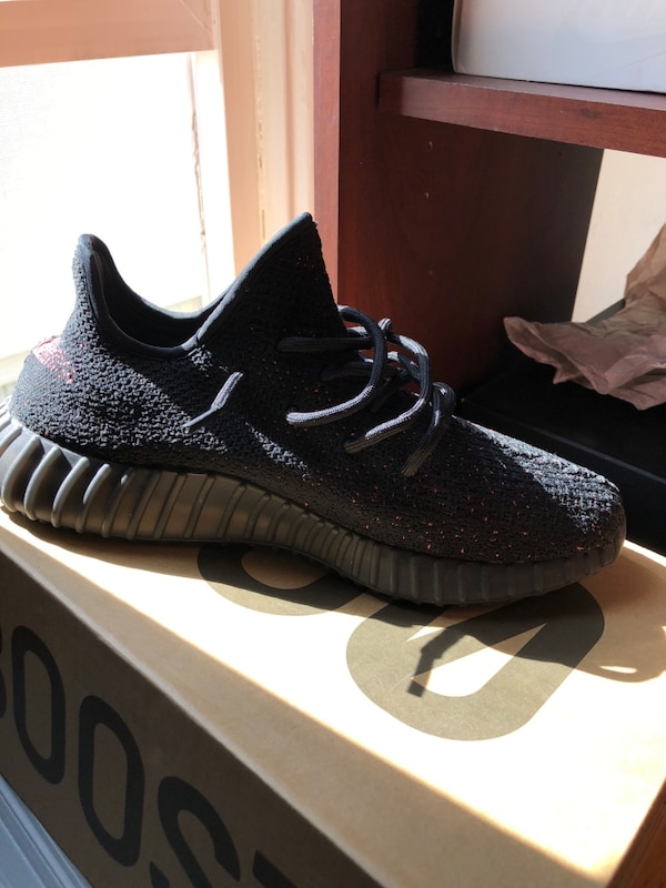 Used Pair of black adidas yeezy boost 350 v2 with box size 9.5 for sale in San  Francisco - letgo 5ef259b1a