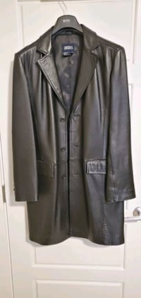 Tristan Amerika leather trench coat for man Edmonton, T5T 5X9