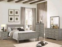 Louis Philip Gray Sleigh Bedroom Set | B3500   Houston, 77036