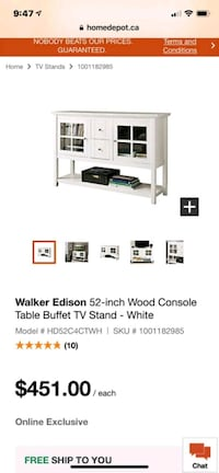 Walker Edition Console Table BRAND NEW Toronto