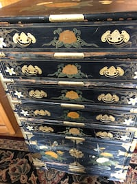 Hand painted antique vintage chest of drawer 2229 mi