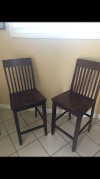 two black wooden armless chairs La Mirada, 90638