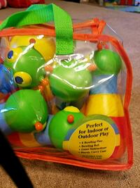 green and yellow bowling ball toy set pack Gaithersburg, 20878