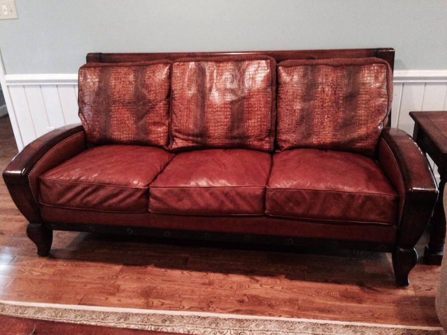 High end cibola brown leather sofa for sale in raleigh letgo for High end sofas for sale