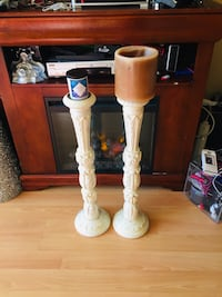 2 candle wood holders Rockville, 20852