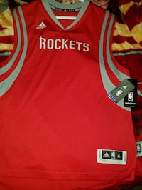 red and grey Adidas Houston Rockets jersey Lubbock, 79412