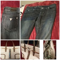 GUESS Daredevil Jeans and GUESS leather purse Bonnyville