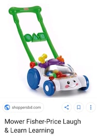 Fisher price toy lawn mower