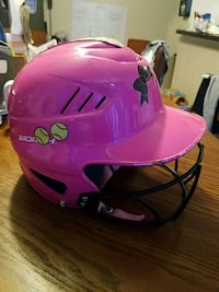 Girls softball helmet, its used and still in good shape,size 6-61/2