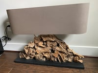 Restoration Hardware Lamp made from reclaimed wood Annandale, 22003