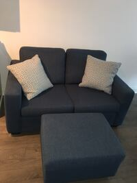 Love seat sofa couch with ottoman Vaughan