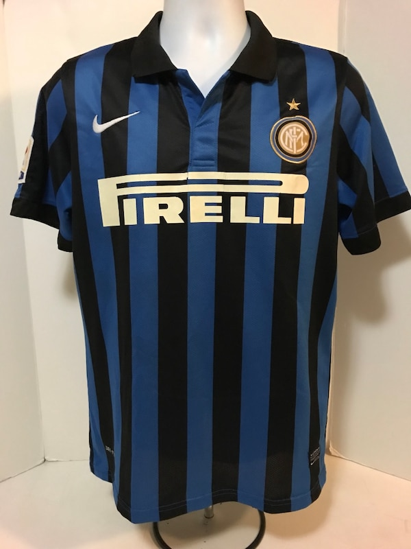 timeless design 8f7af 3fe65 Inter Milan Home Internazionale Nike shirt jersey maglia trikot #9 Patch  Size S