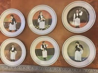 """Williams Sonoma Guy Buffet """"SOMMELIER"""" DINNER PLATES COMPLETE SET of SIX Clermont, 34711"""