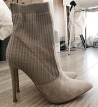 Sock boots WM 8 grey suede with knitted top Los Angeles, 90015
