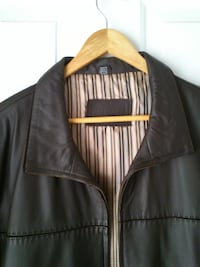 Men's Brown Leather Jacket West Springfield