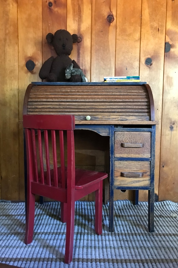 Child sized Antique Rolltop Desk