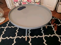 round grey wooden coffee table Somerville, 02144