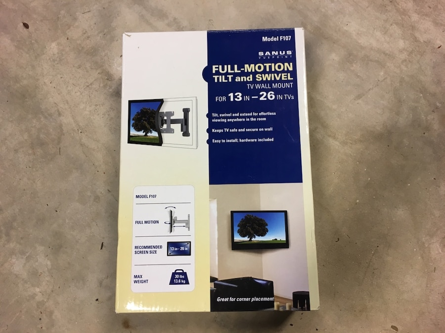 Used Full Motion Tilt And Swivel Sanus Tv Wall Mount In