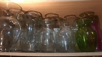 clear glass vase lot