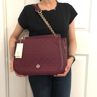 NWT Tory Burch Bryant quilted leather shoulder bag reg burgundy Toronto, M1P 5E6