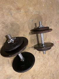 Dumbell, and hand weights