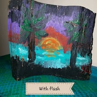 Beach sunset painted on repurposed wood Virginia Beach, 23455