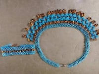 Hand made beaded set  Independence