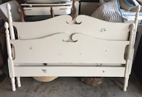 Antique headboard & footboard. Painted with chalk paint, distressed & waxed. Full size. Woodbine, 31569
