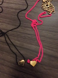 Coloured heart necklace