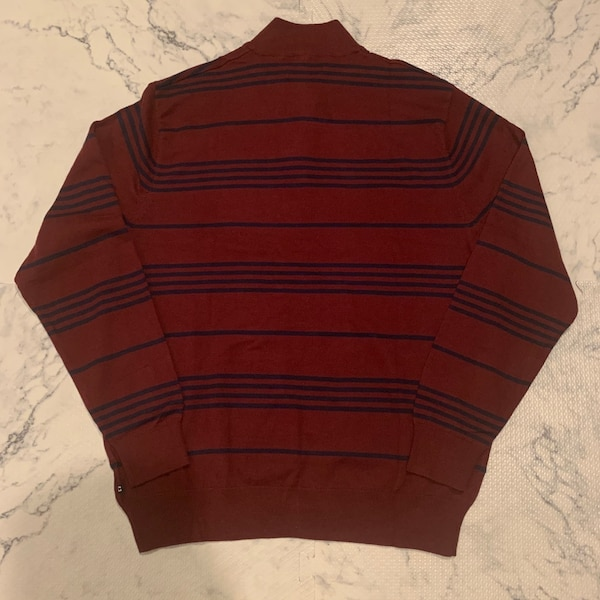 NWT Chaps Men's Striped Mockneck Sweater Large 1