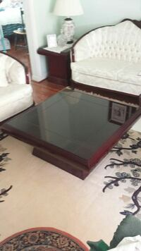 Coffee table solid  with glass top   Toronto, M3J 1E9