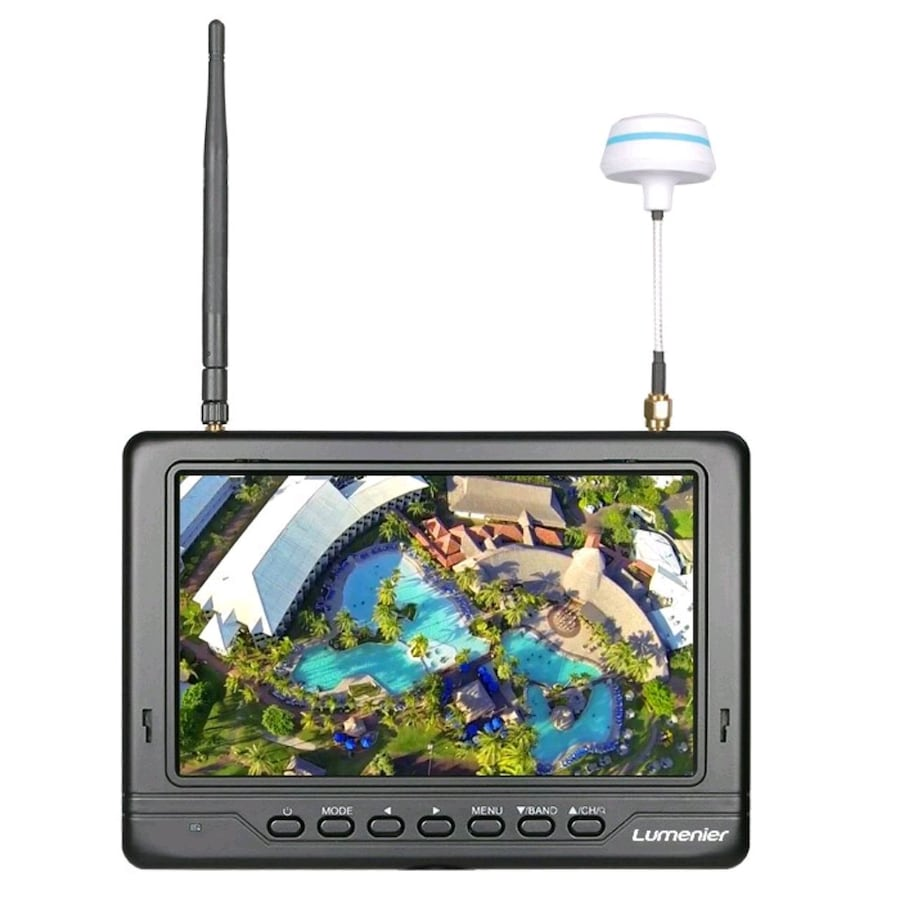 "7"" Lumenier Slim LCD FPV Monitor w/ 5.8GHz 32CH Diversity Rx, Battery"