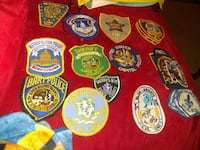 Over 40 police patches for uniforms or t-shirts asking $100 or best of Alexandria, 22309