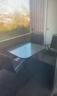 Patio outdoor table with 4 chairs