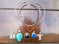 Stone Necklaces w/Charms Kyle, 78640