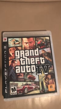 Grand Theft Auto IV PS3 game case