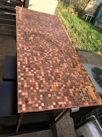 Penny Top Copper Table