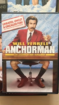 Will Ferrell Anchorman unrated, uncut, and uncalled for DVD case Middletown, 07748