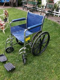 blue and black folding wheelchair Queens, 11105